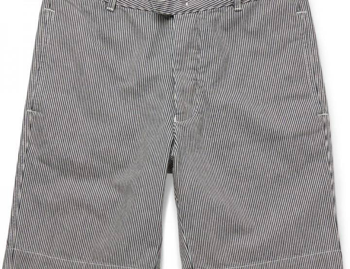 Clothing: Officine Generale Striped Denim Shorts @OfficineG