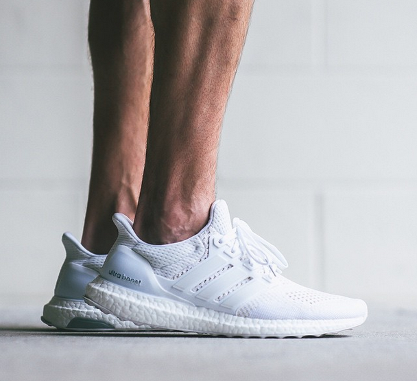 Footwear: adidas All White Ultra Boost  @adidas