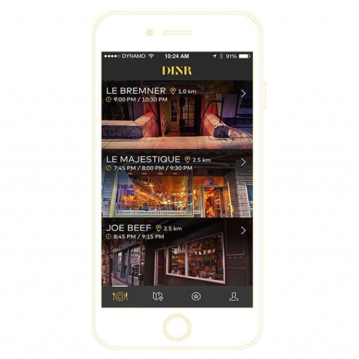 Food: Garde Manger's New DINR App For Montreal Let's You Reserve A Last-Minute Table @DINRapp
