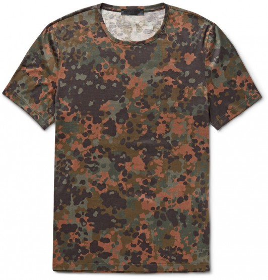 Clothing: Burberry Prorsum Camouflage T-Shirt @Burberry