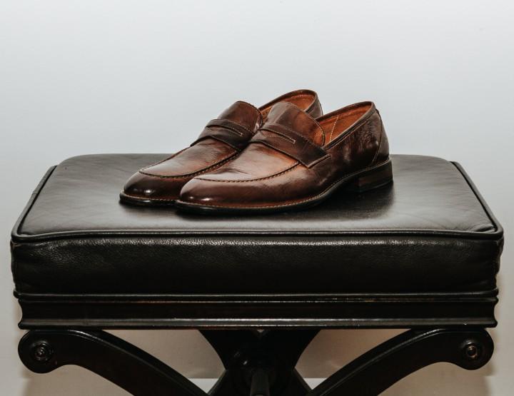 Footwear: Gordon Rush Hawkins Penny Loafer @gordonrush
