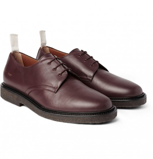 Footwear: Common Projects Cadet Leather Derby Shoes