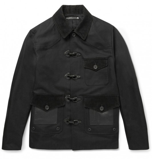 Clothing: Coach Leather, Felt and Corduroy Panelled Jacket @Coach