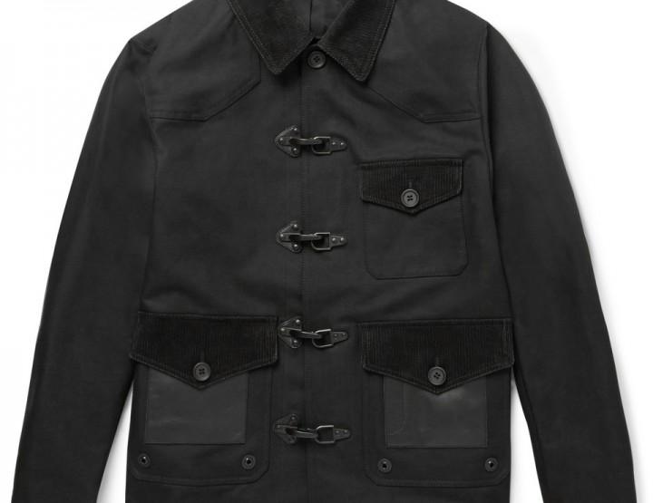Clothing: Coach Leather, Felt and Corduroy Panelled Jacket @Coach