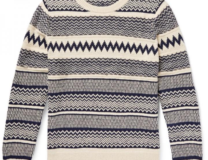 Clothing: Gant Rugger Jacquard Knit Sweater @GantRugger