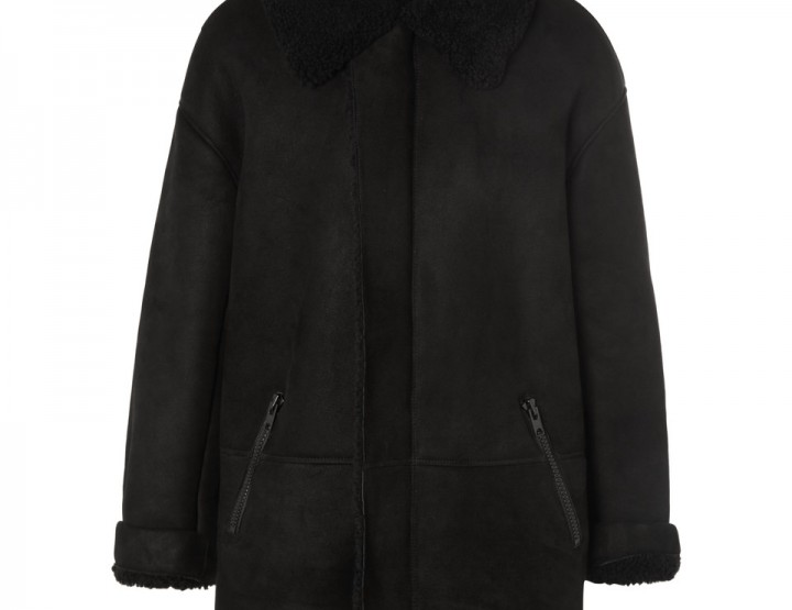 Clothing: The All-Black adidas YEEZY Season 1 Shearling Coat #YEEZYSEASON