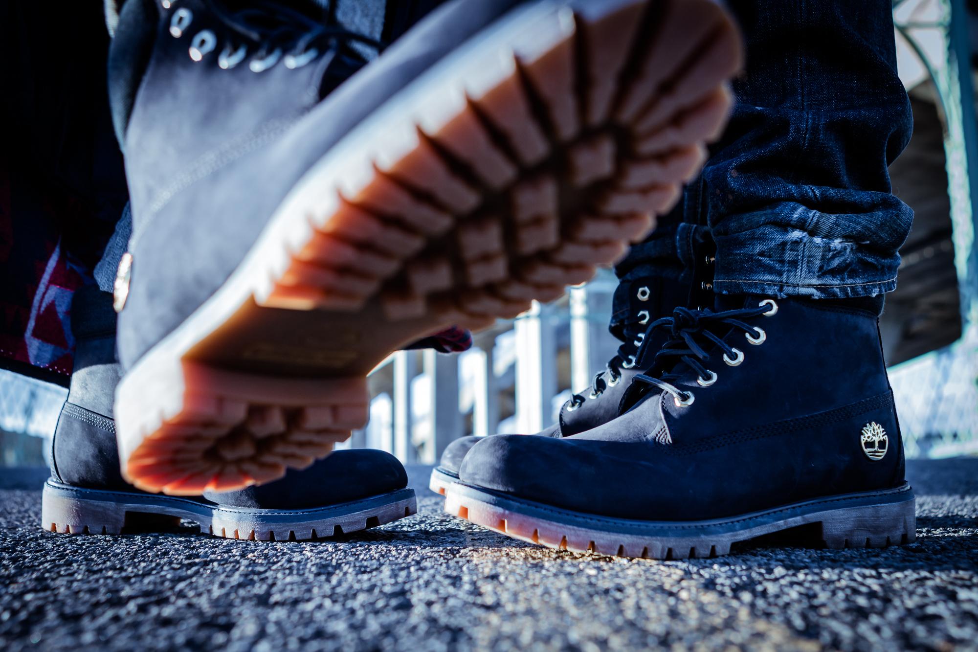 dark blue timberland boots