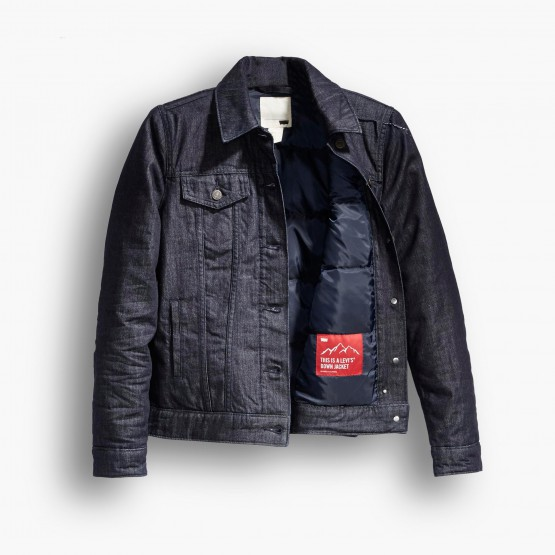 Clothing: Levis Fills Their Iconic Trucker Jacket With Down @levis