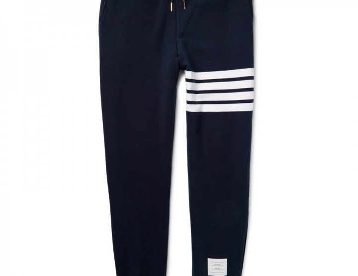 Clothing: Thom Browne Striped Cotton Jersey Tracksuit @ThomBrowneNY