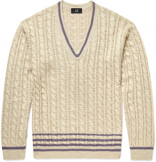 Wear: This Dunhill Cable-Knit Sweater Is A Classic @alfreddunhill