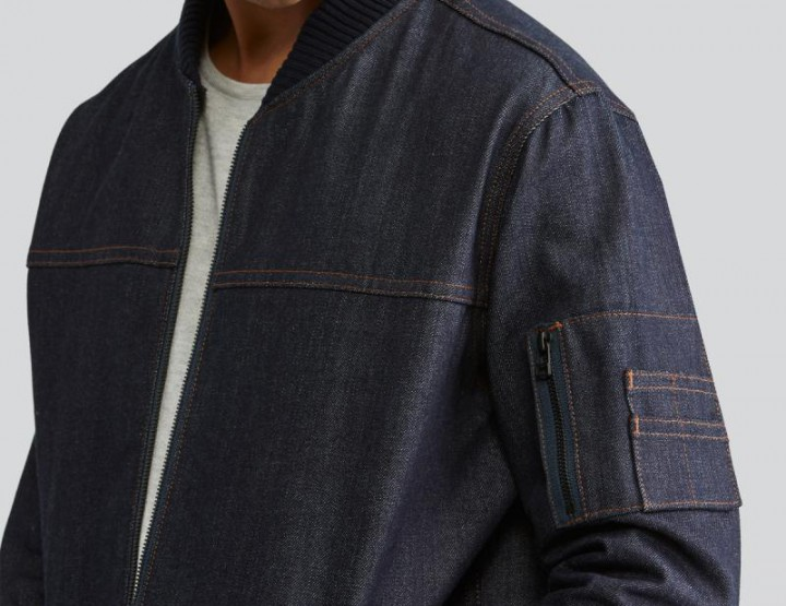 Frank & Oak x Naked & Famous' Denim Bomber Is New Take On A Trend