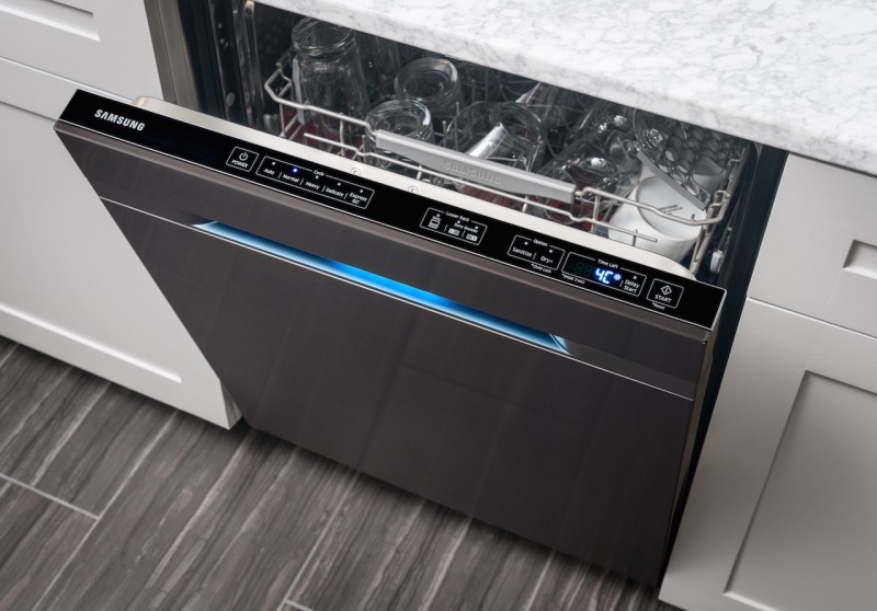 samsung releases allblack stainless steel kitchen appliances