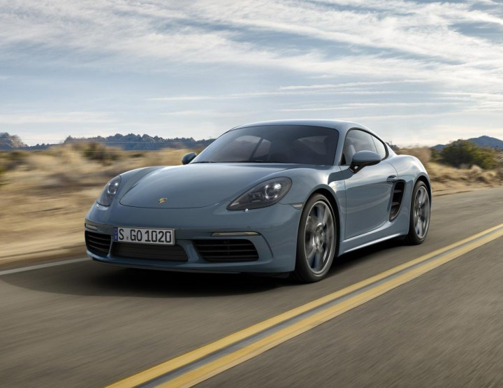 The Porsche 718 Cayman Goes Four Cylinder For 2017