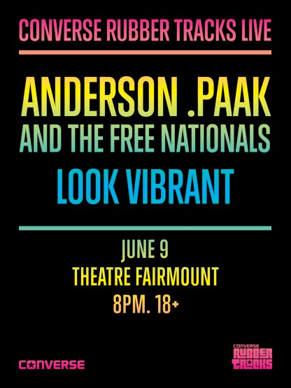 Anderson.Paak To Perform At Converse Rubber Tracks Live In Montreal
