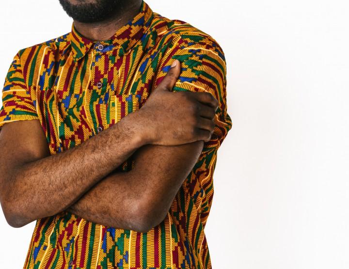 This Della Batik Tile Print Shirt Is Handmade In Ghana