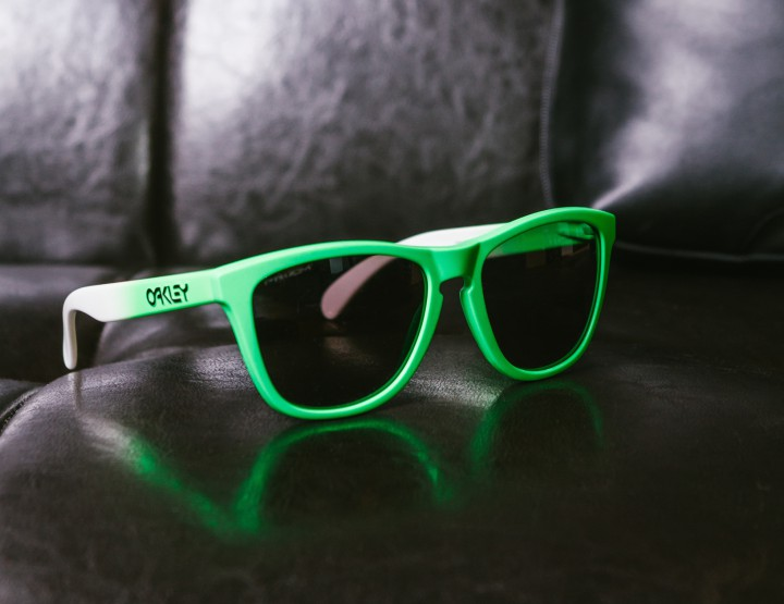 oakley green sunglasses 7ddy  Oakley Crafts Limited Edition Frogskins Sunglasses