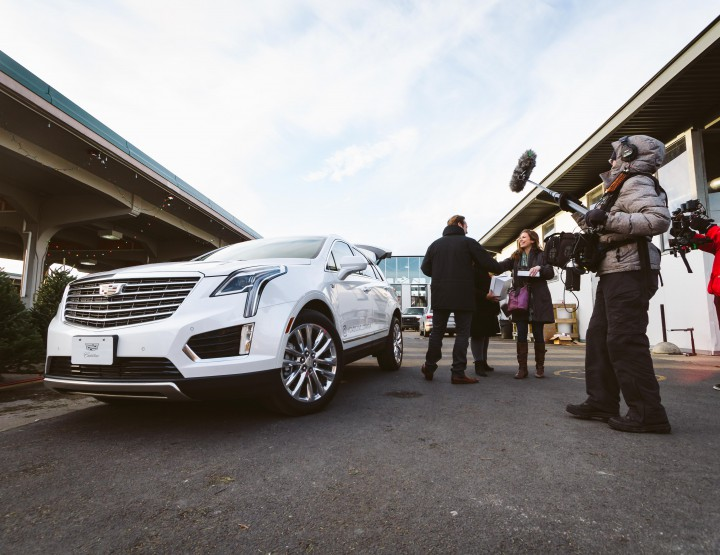 Behind The Scenes From The First Instagram XT5 Test Drive From Cadillac @CadillacCanada #XT5
