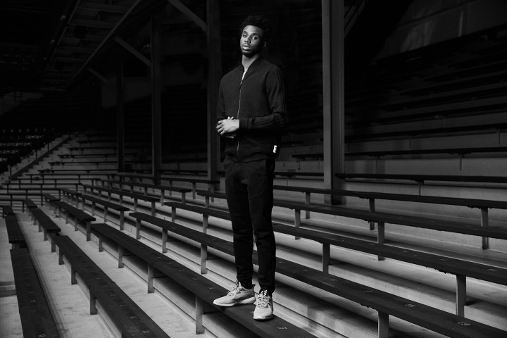 Andrew Wiggins Sports adidas & Reigning Champ's Latest Tracksuit Collaboration