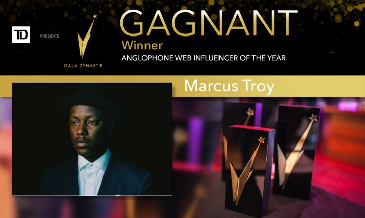 Marcus Troy Wins Anglophone Web Influencer Of The Year At The Gala Dynastie
