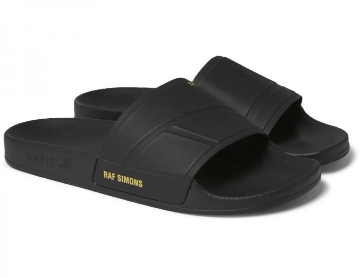 These All-Black Black Raf Simons x Adidas Slides Will Take You Through Summer @adidasoriginals