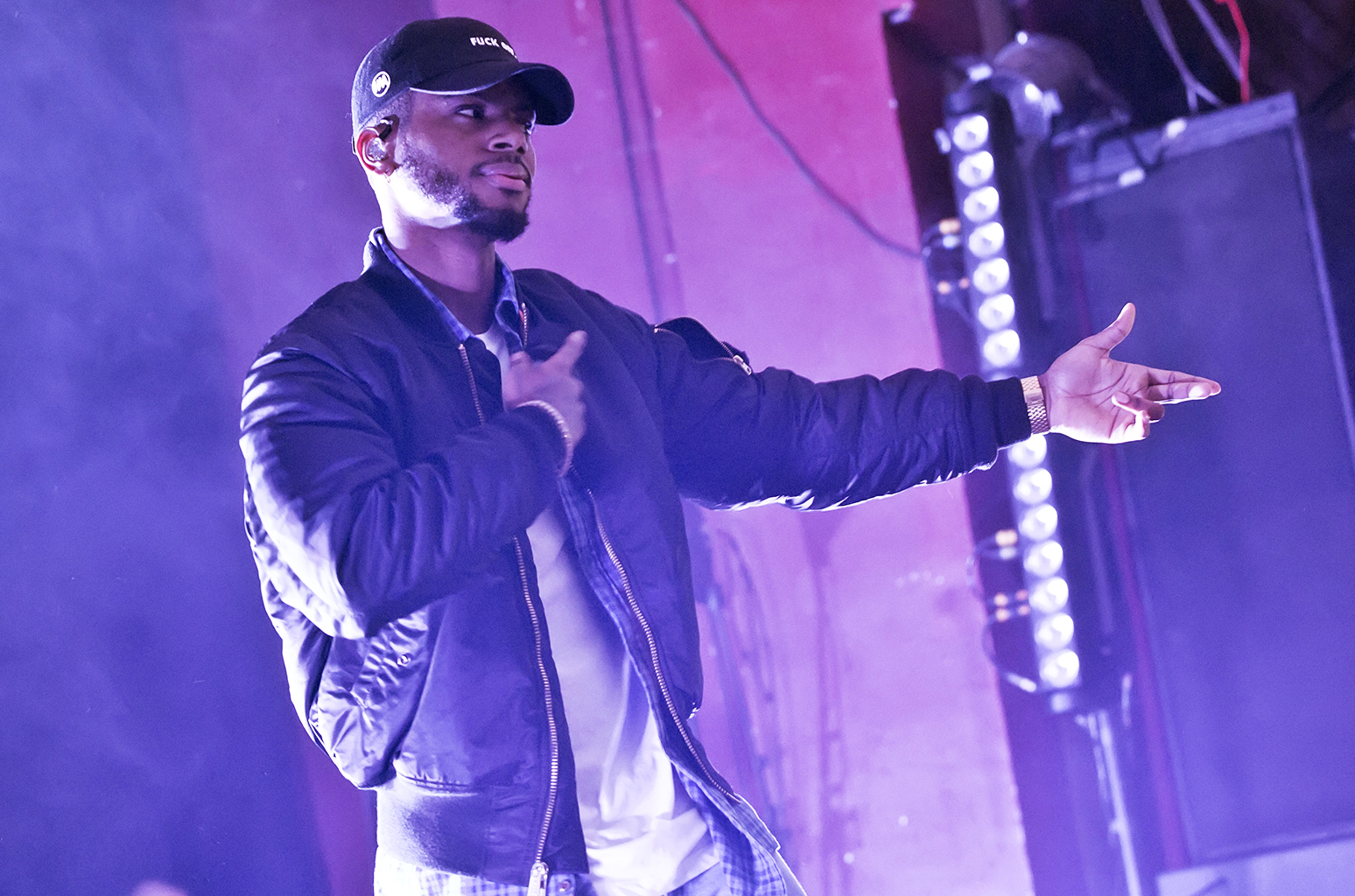 BERLIN, GERMANY - APRIL 07: American singer Bryson Tiller performs live during a concert at the Astra on April 7, 2016 in Berlin, Germany. (Photo by Frank Hoensch/Redferns via Getty Images)