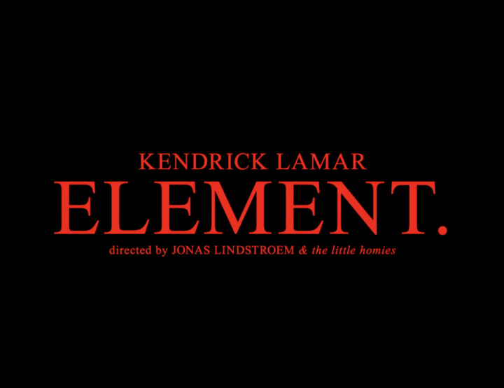 Kendrick Lamar Releases Visuals For ELEMENT. @kendricklamar