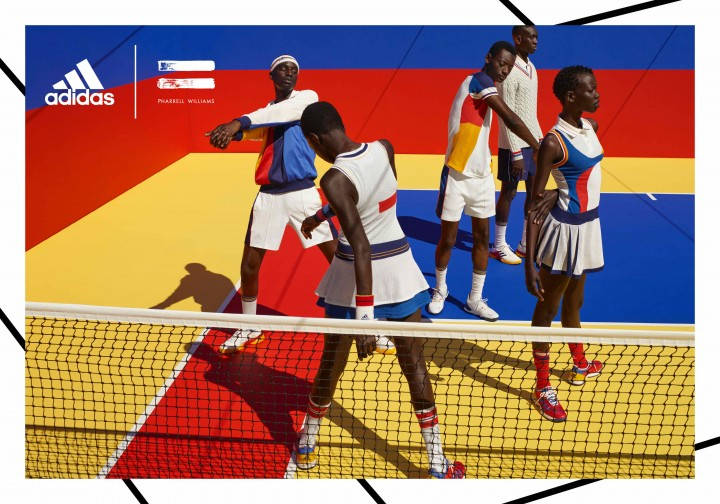 Pharrell Williams x adidas Tennis 'Don't Be Quiet Please' Campaign @adidastennis #adidasPharrellWilliams