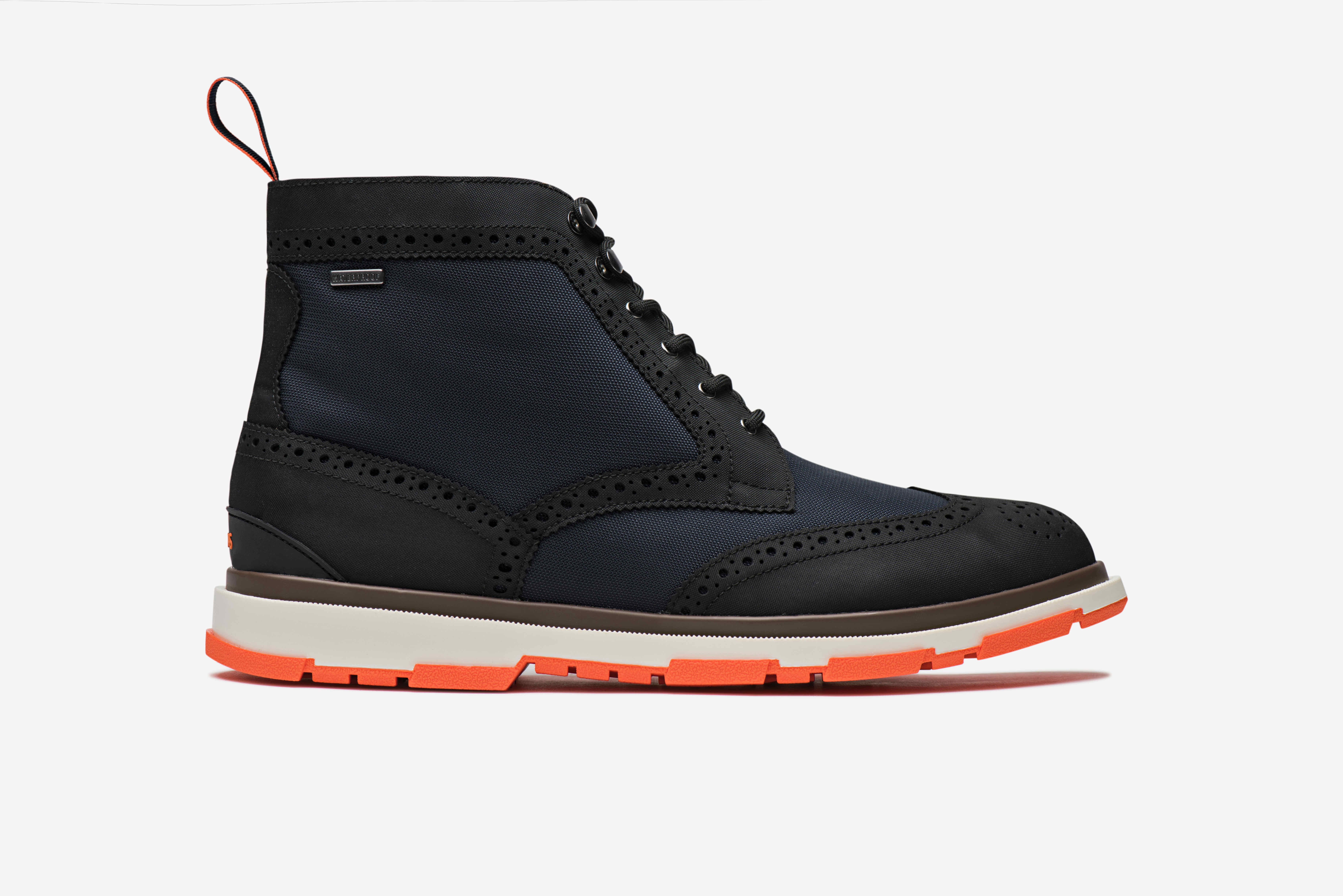 Storm Brogue High Navy and Black and Orange