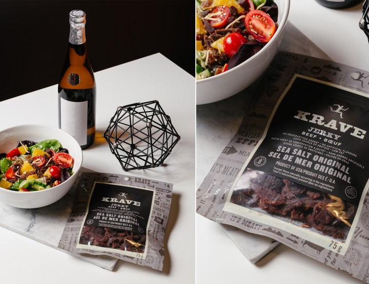 KRAVE Jerky Inspired Asian Salad #ExploreYourTastes